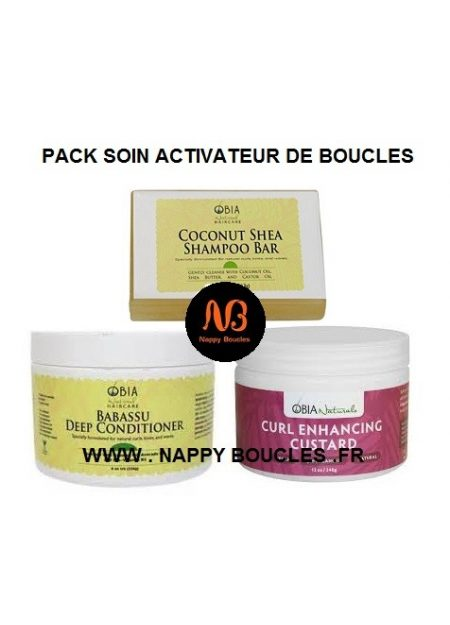 PACK SOIN ACTIVATEUR DE BOUCLES OBIA NATURAL