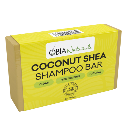 shampoing bar savon / coconut & shea shampoo obia natural